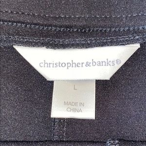 Christopher & Banks Skirts - ❤️NWOT❤️Christopher & Banks Black Knit Skirt